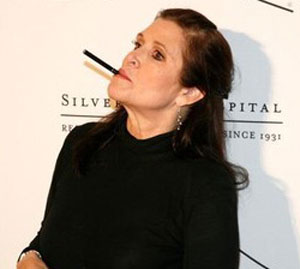 carrie fisher cigarette electronique
