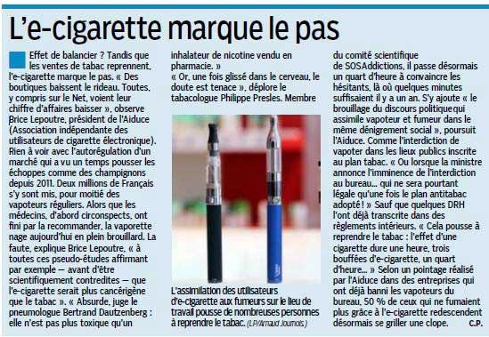 Article le parisien hausse tabac