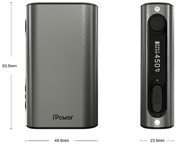 Dimensions de l'iPower 80W