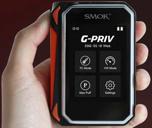 G PRIV SMOK Menu