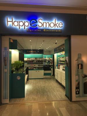 Entrée magasin Happesmoke à Aubagne
