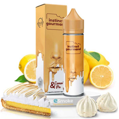 E-liquide Lemon & Pie 50ml + booster(s) - Instinct Gourmand - Alfaliquid