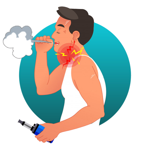 je tousse avec ma cigarette électronique