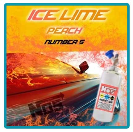 e-liquide nos number 5 ice lime peach